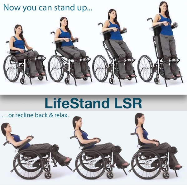 used lifestand LSR standing wheelchair for sale